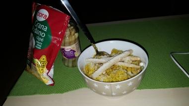 Risotto au curry et asperge